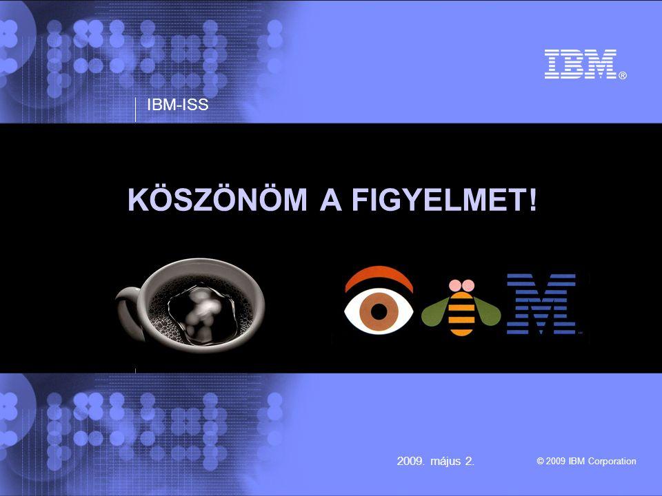IBM-ISS © 2009 IBM Corporation 2009. május 2. KÖSZÖNÖM A FIGYELMET!