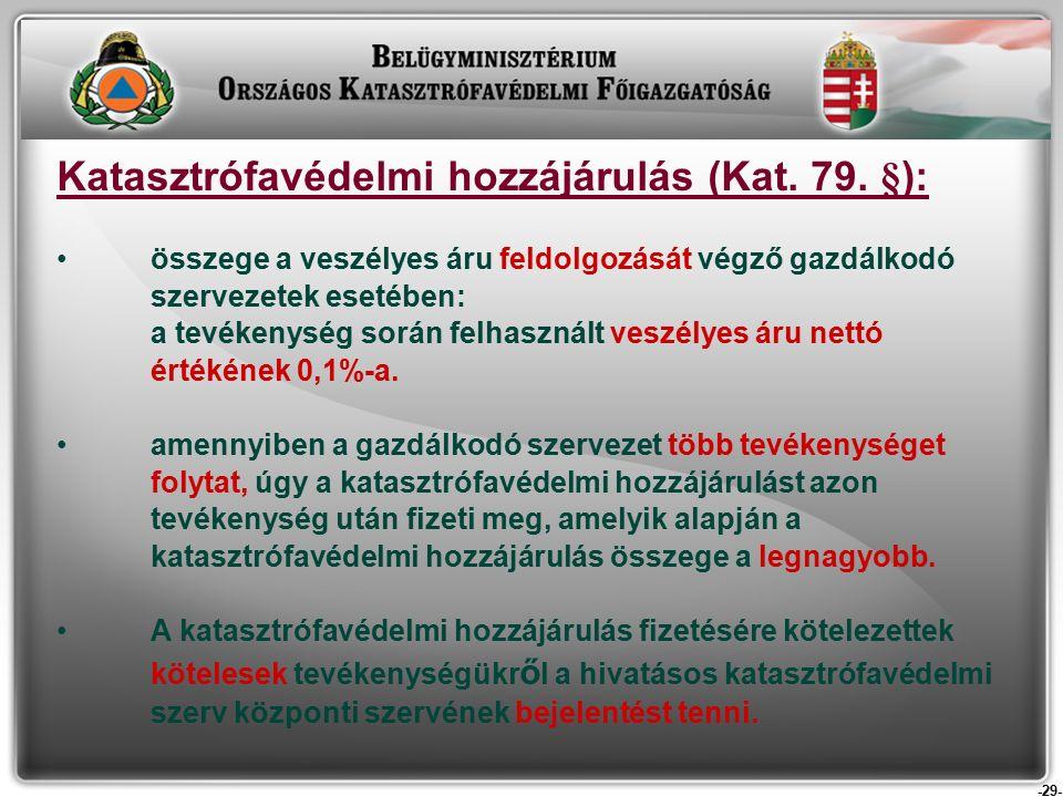 -29- Katasztrófavédelmi hozzájárulás (Kat. 79.