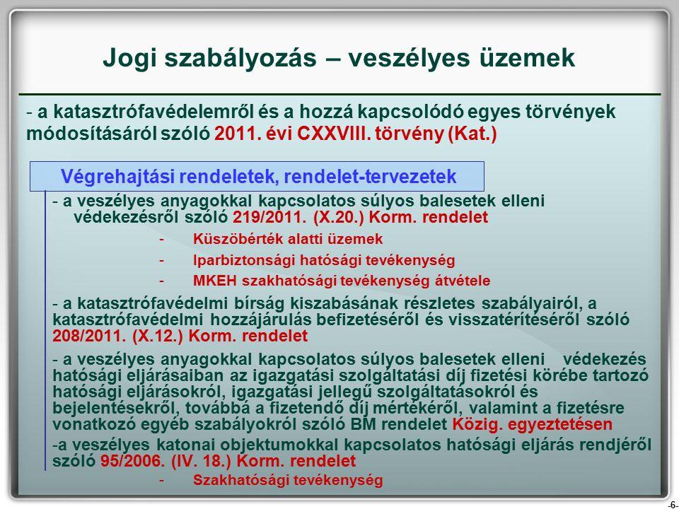 -6- - a katasztrófavédelemről és a hozzá kapcsolódó egyes törvények módosításáról szóló 2011.