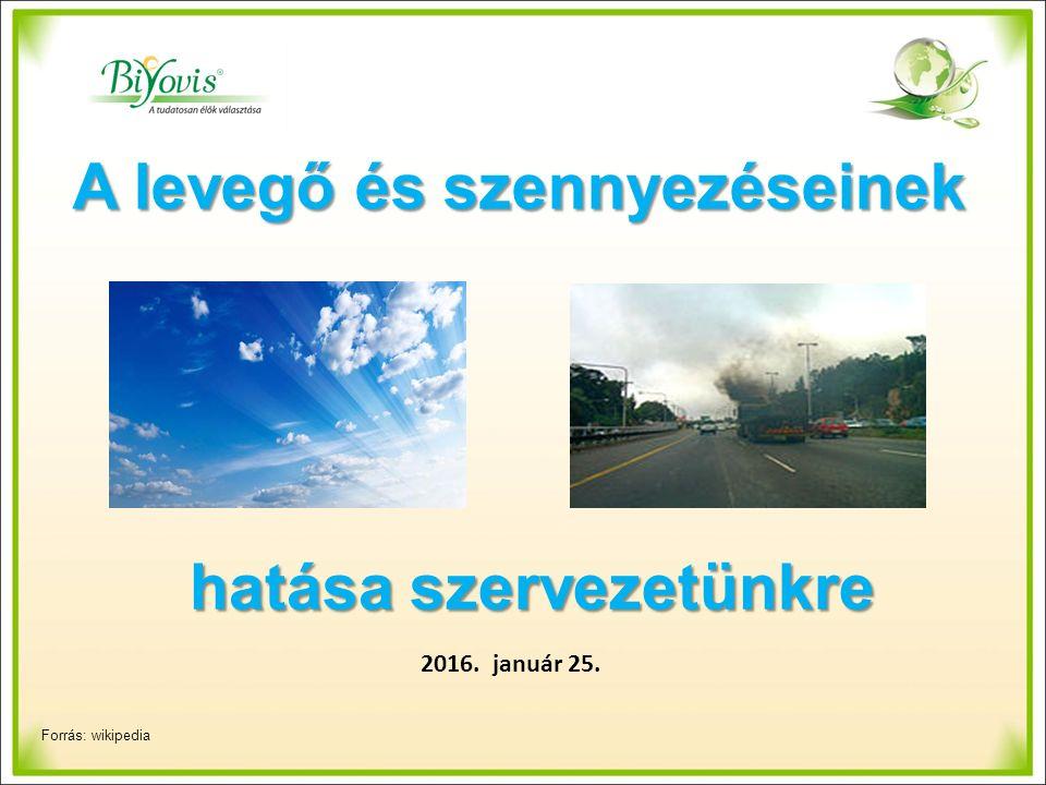 A levegő és szennyezéseinek 2016. január 25. hatása szervezetünkre Forrás: wikipedia