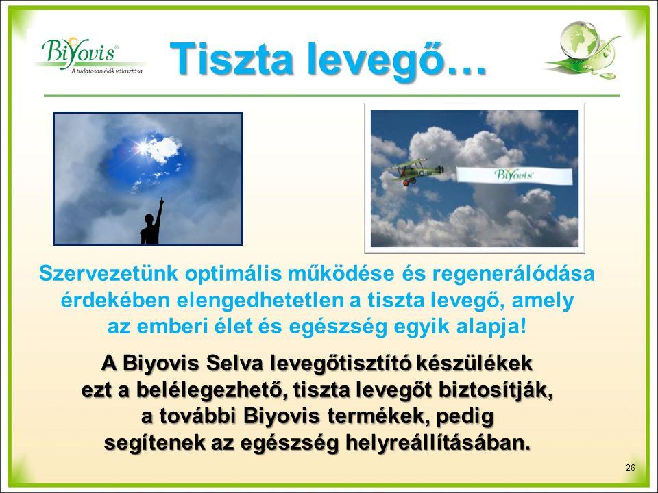 Tiszta levegő… Szervezetünk optimális működése és regenerálódása érdekében elengedhetetlen a tiszta levegő, amely az emberi élet és egészség egyik alapja.