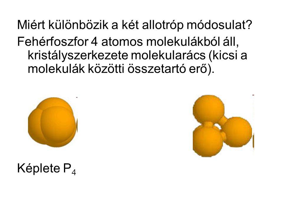 Miért különbözik a két allotróp módosulat.
