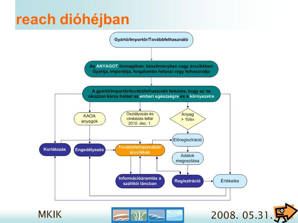 MKIK 2008.05.31. 3/1. Reach regisztráció- mikor.