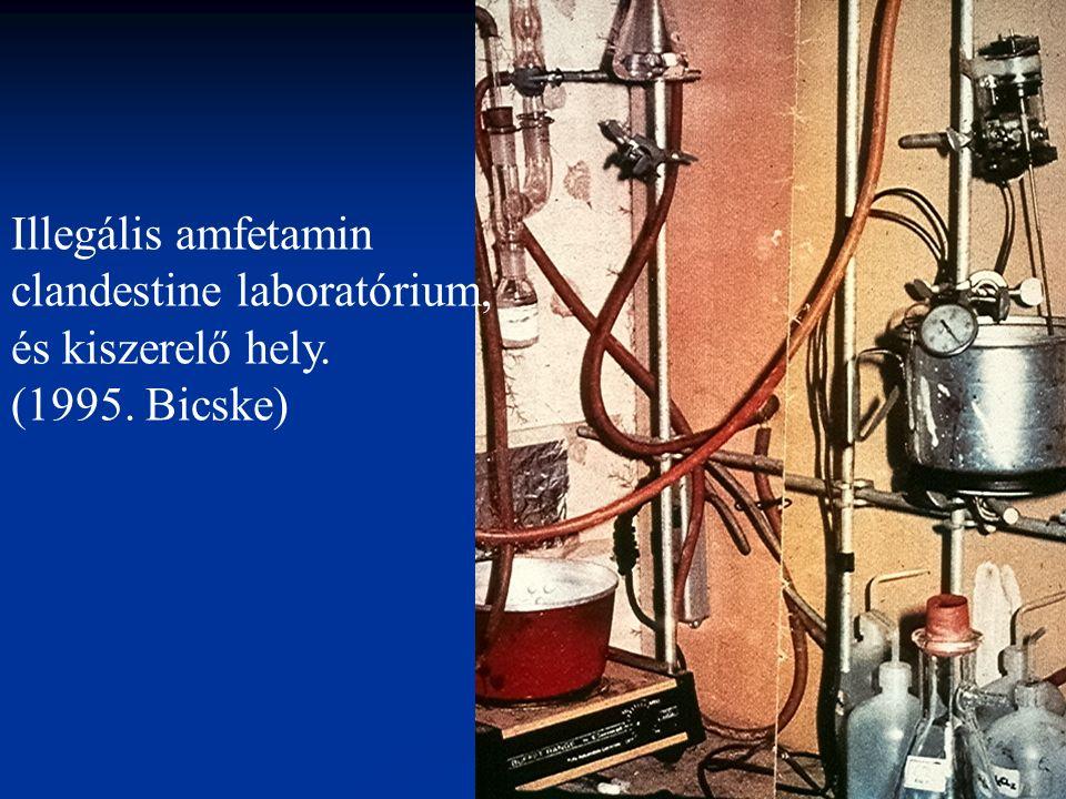 Illegális amfetamin clandestine laboratórium, és kiszerelő hely. (1995. Bicske)