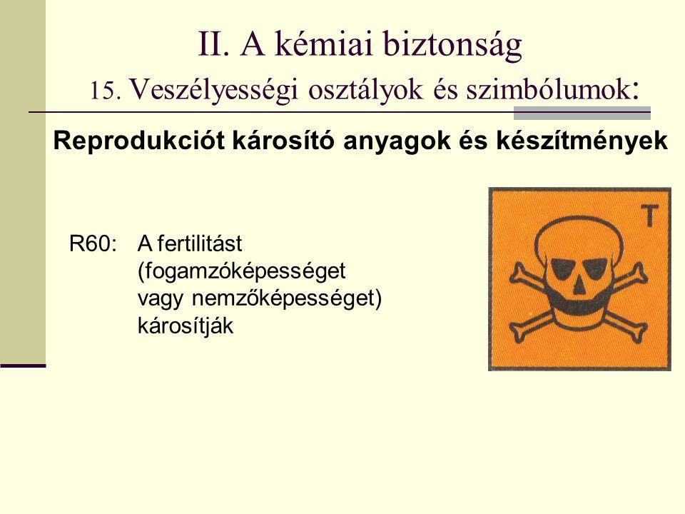 II. A kémiai biztonság 15.