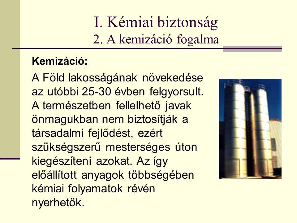 I. Kémiai biztonság 2.