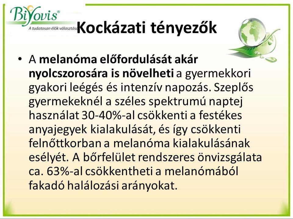 Kockázati tényezők A melanóma előfordulását akár nyolcszorosára is növelheti a gyermekkori gyakori leégés és intenzív napozás.