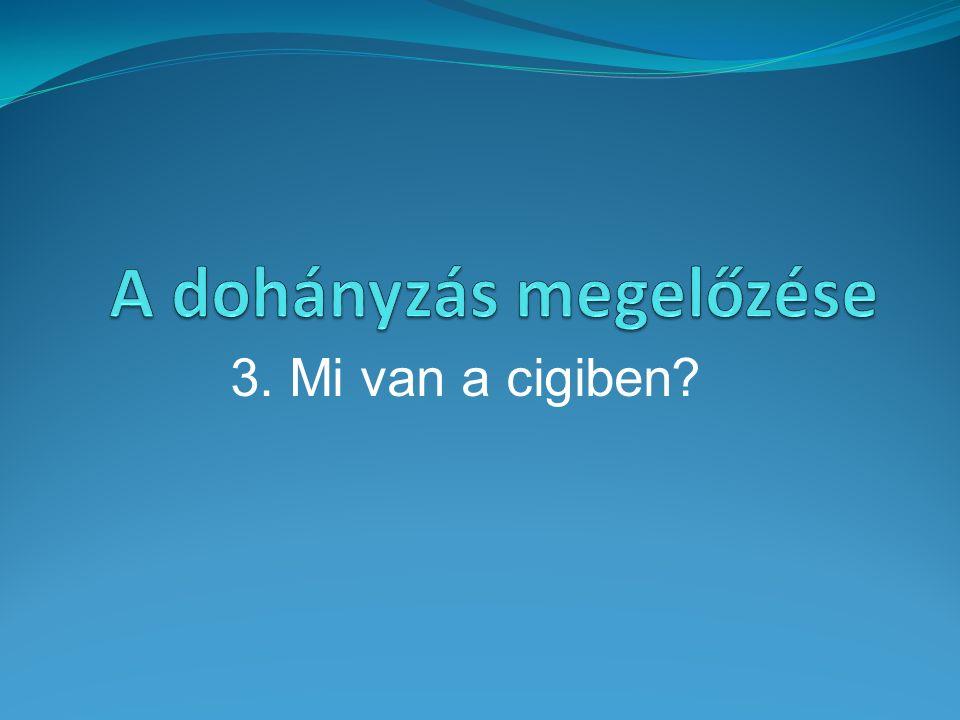 3. Mi van a cigiben?