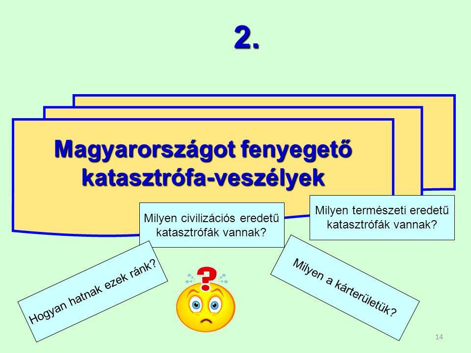 14 Magyarországot fenyegető katasztrófa-veszélyek 2.