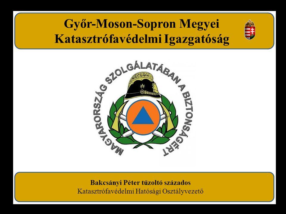 Győr-Moson-Sopron Megyei Katasztrófavédelmi Igazgatóság Bakcsányi Péter tűzoltó százados Katasztrófavédelmi Hatósági Osztályvezető