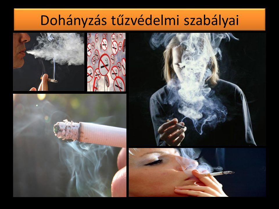 Dohányzás tűzvédelmi szabályai