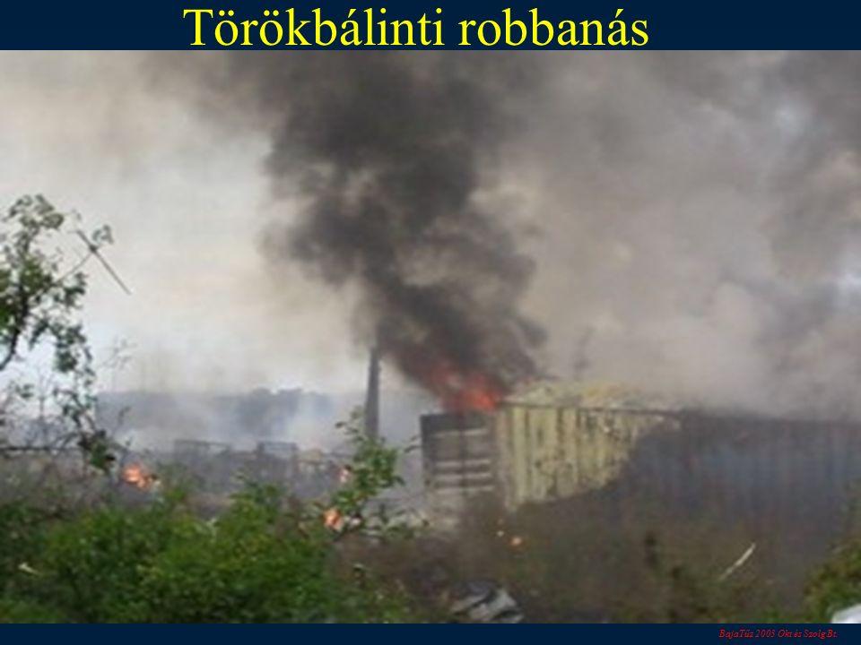 BajaTűz 2003 Okt és Szolg Bt. Törökbálinti robbanás