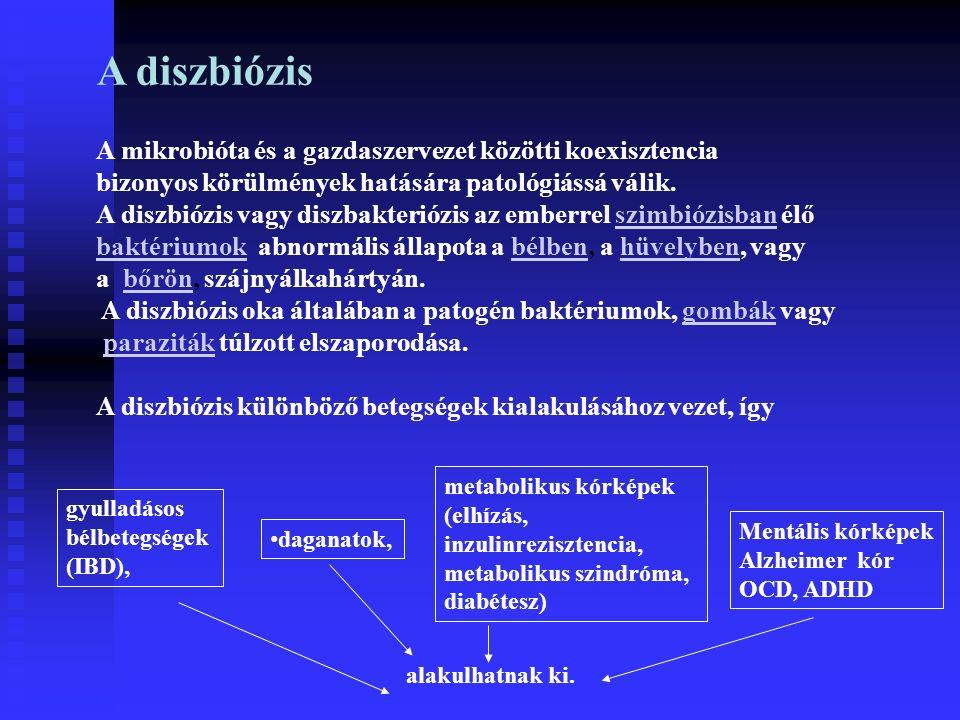 A diszbiózis A mikrobióta és a gazdaszervezet közötti koexisztencia bizonyos körülmények hatására patológiássá válik.