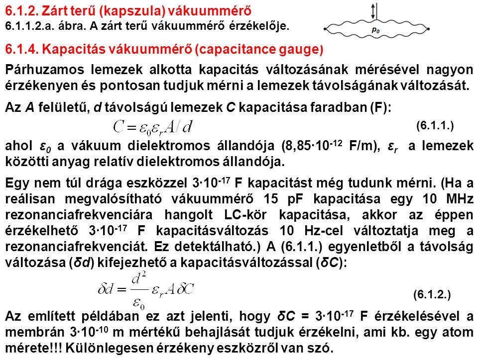 6.1.2. Zárt terű (kapszula) vákuummérő 6.1.1.2.a.