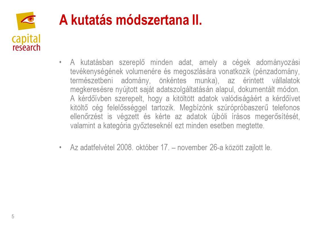 5 A kutatás módszertana II.