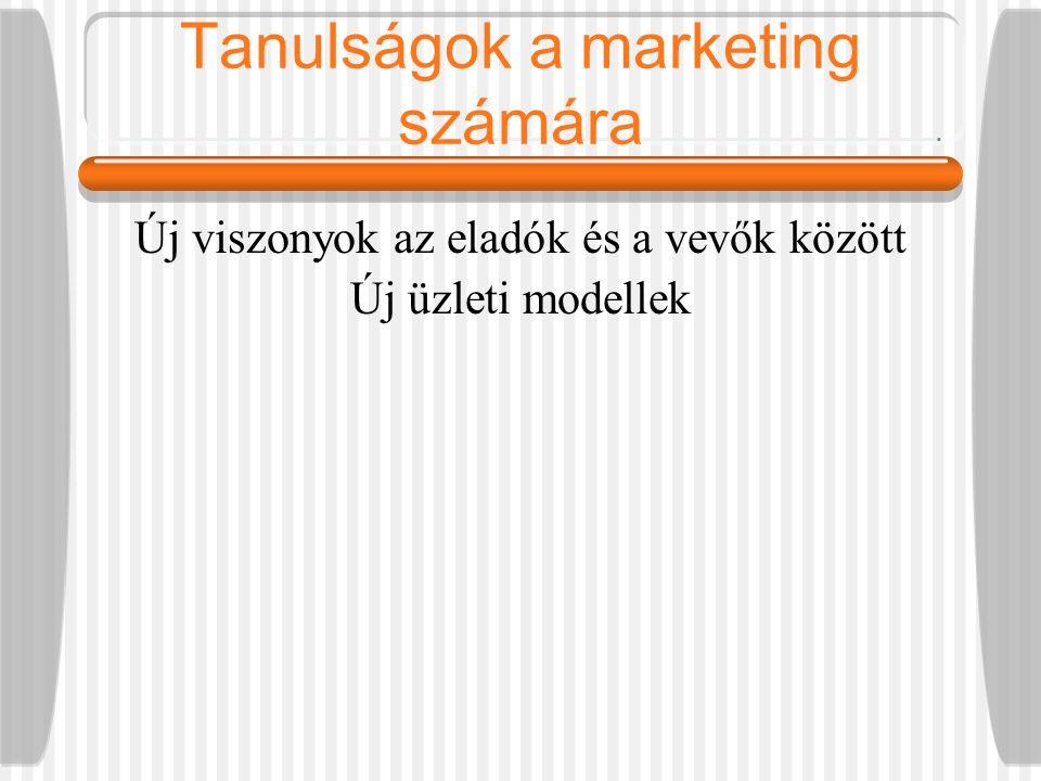 Tanulságok a marketing számára Új viszonyok az eladók és a vevők között Új üzleti modellek