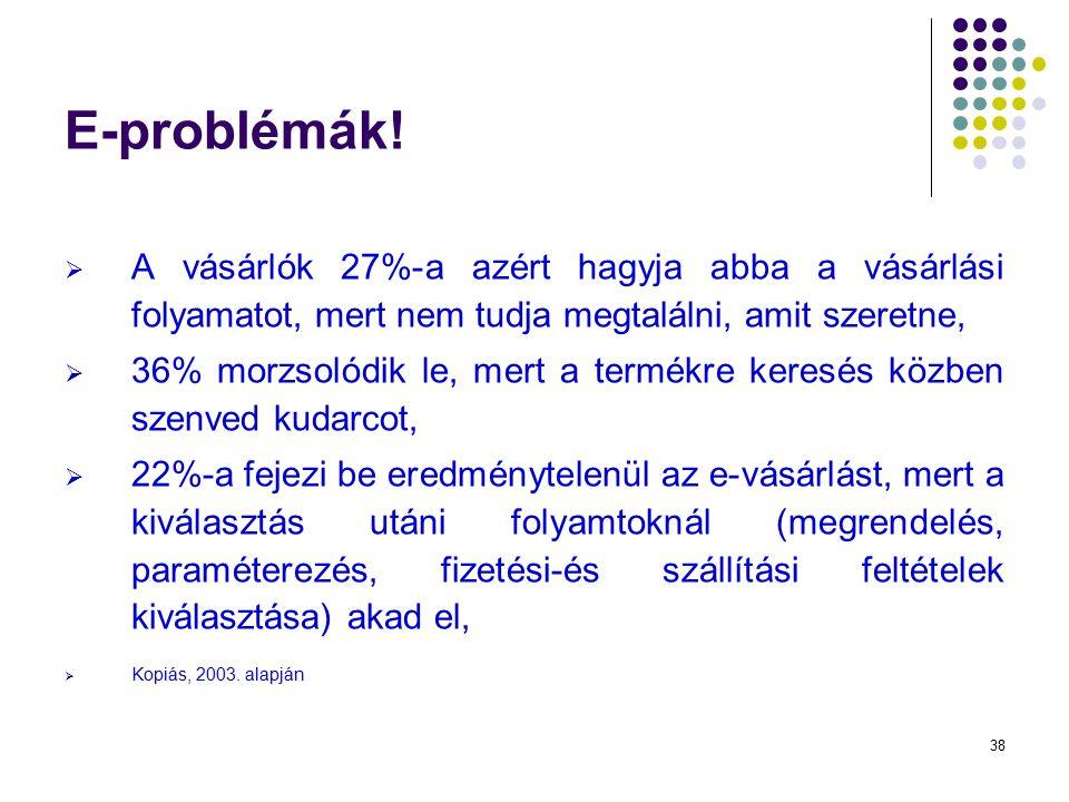 38 E-problémák.