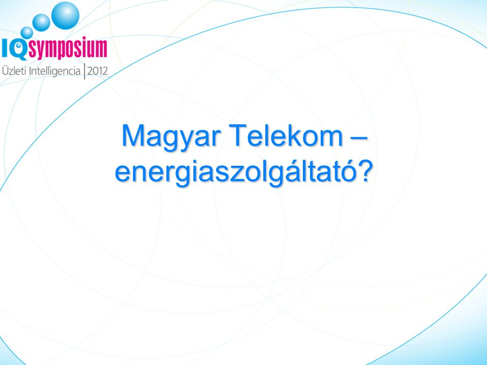 Magyar Telekom – energiaszolgáltató