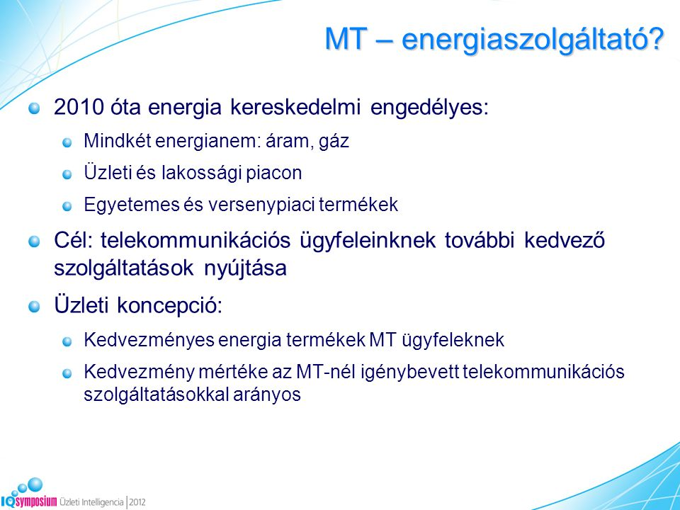MT – energiaszolgáltató.