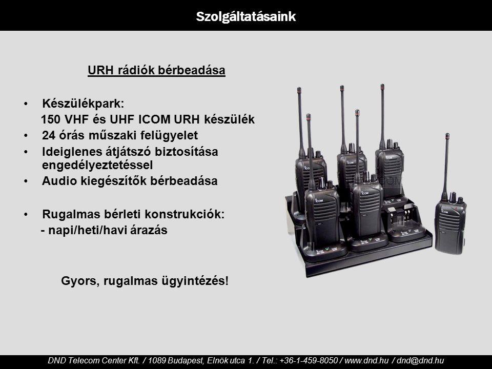 DND Telecom Center Kft./ 1089 Budapest, Elnök utca 1.