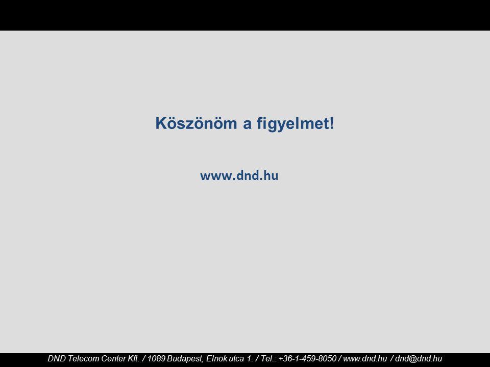 DND Telecom Center Kft. / 1089 Budapest, Elnök utca 1.