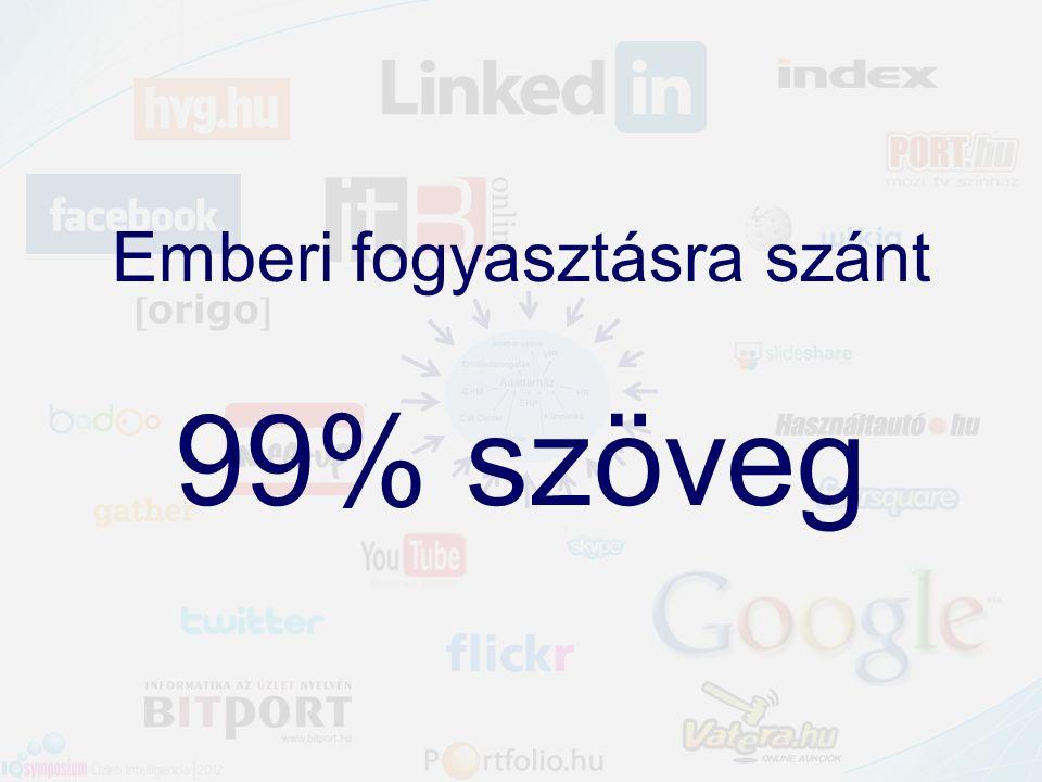 Emberi fogyasztásra szánt 99% szöveg