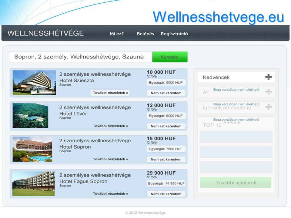 Wellnesshetvege.eu Hirdetés keresés Hirdetés keresés Szövegintelligencia Versenytárs, piaci elemzés Hirdetéstár