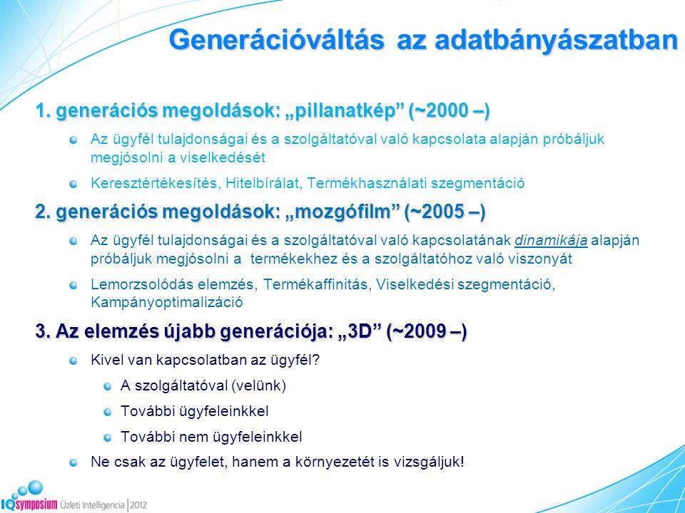 Generációváltás az adatbányászatban 1.