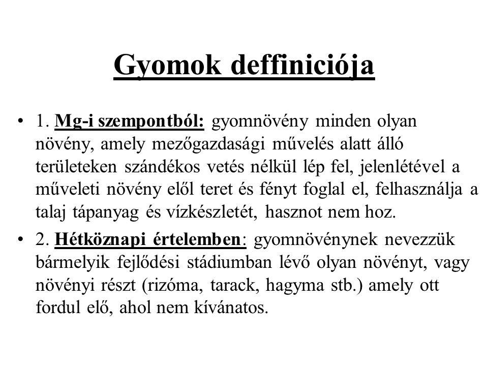Gyomok deffiniciója 1.