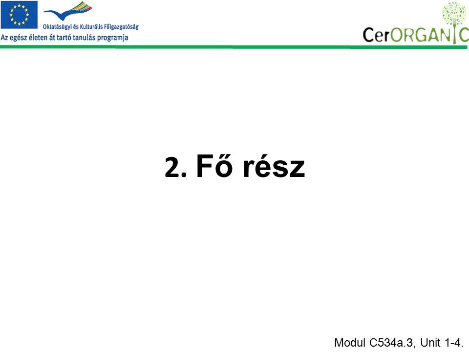 2. Fő rész Modul C534a.3, Unit 1-4.