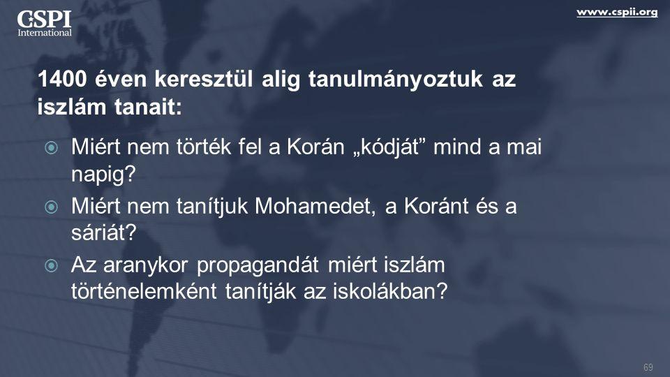 """1400 éven keresztül alig tanulmányoztuk az iszlám tanait:  Miért nem törték fel a Korán """"kódját"""" mind a mai napig?  Miért nem tanítjuk Mohamedet, a"""