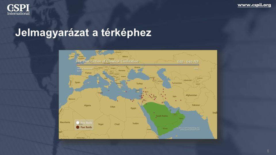 Jelmagyarázat a térképhez 8