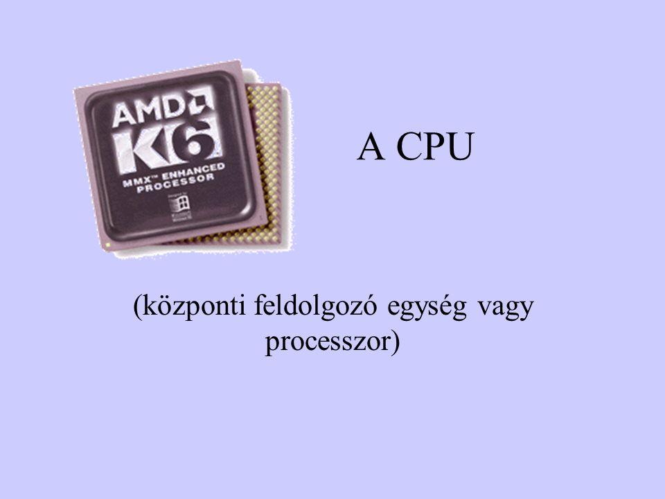 A CPU (központi feldolgozó egység vagy processzor)