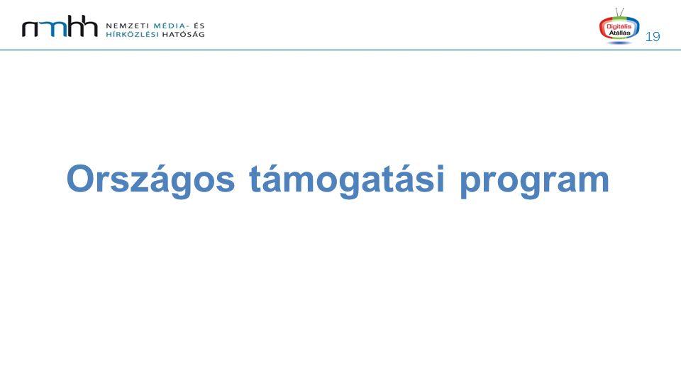 19 Országos támogatási program