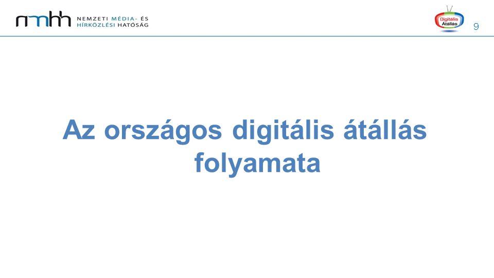 9 Az országos digitális átállás folyamata