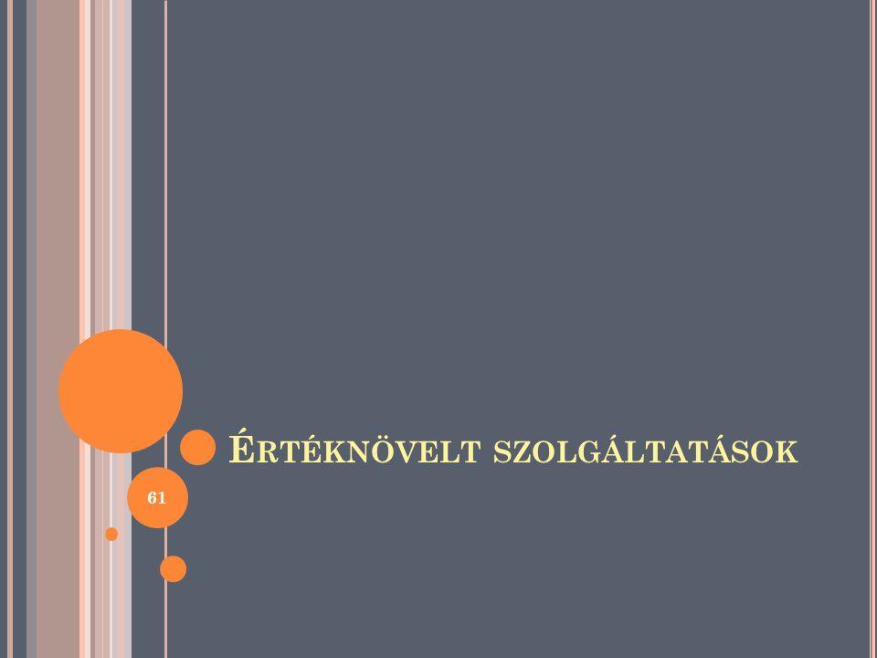 É RTÉKNÖVELT SZOLGÁLTATÁSOK 61