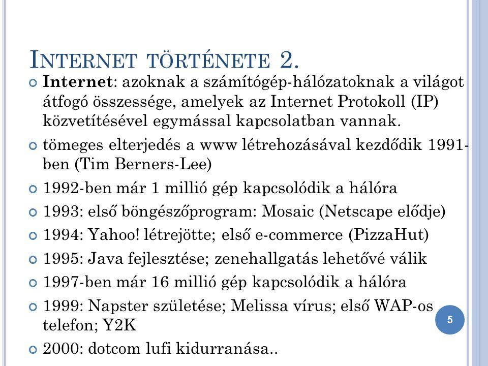 I NTERNET TÖRTÉNETE 2.