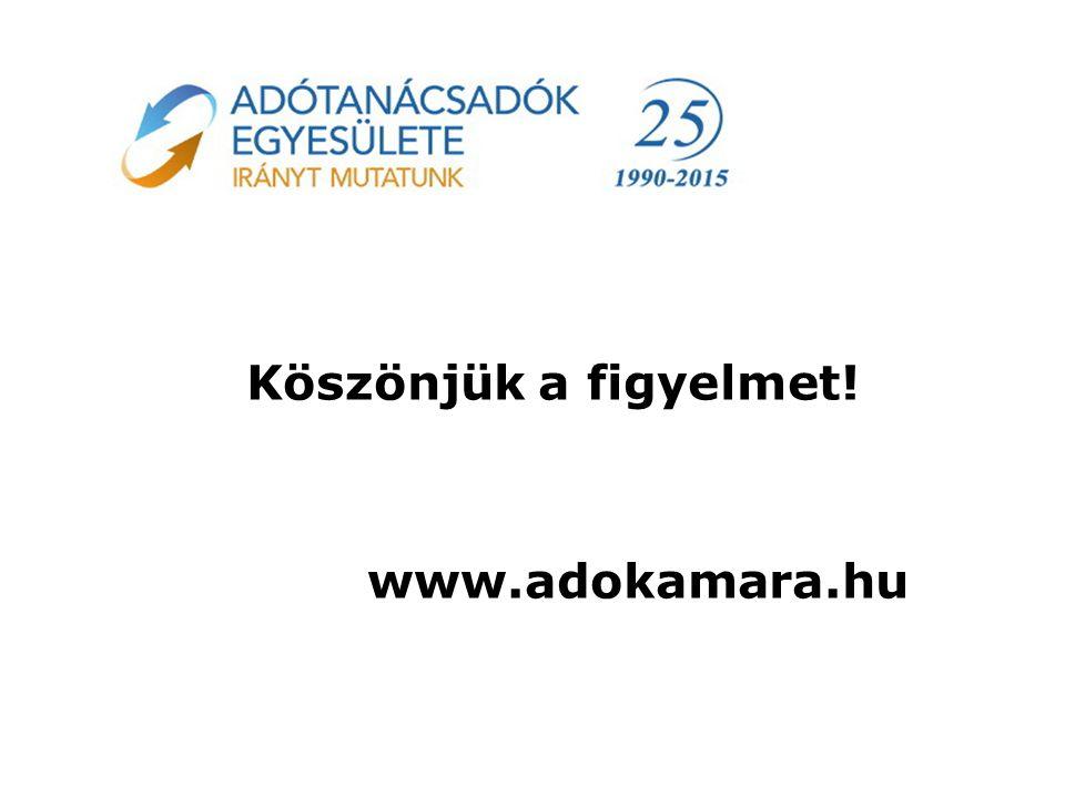 Köszönjük a figyelmet! www.adokamara.hu