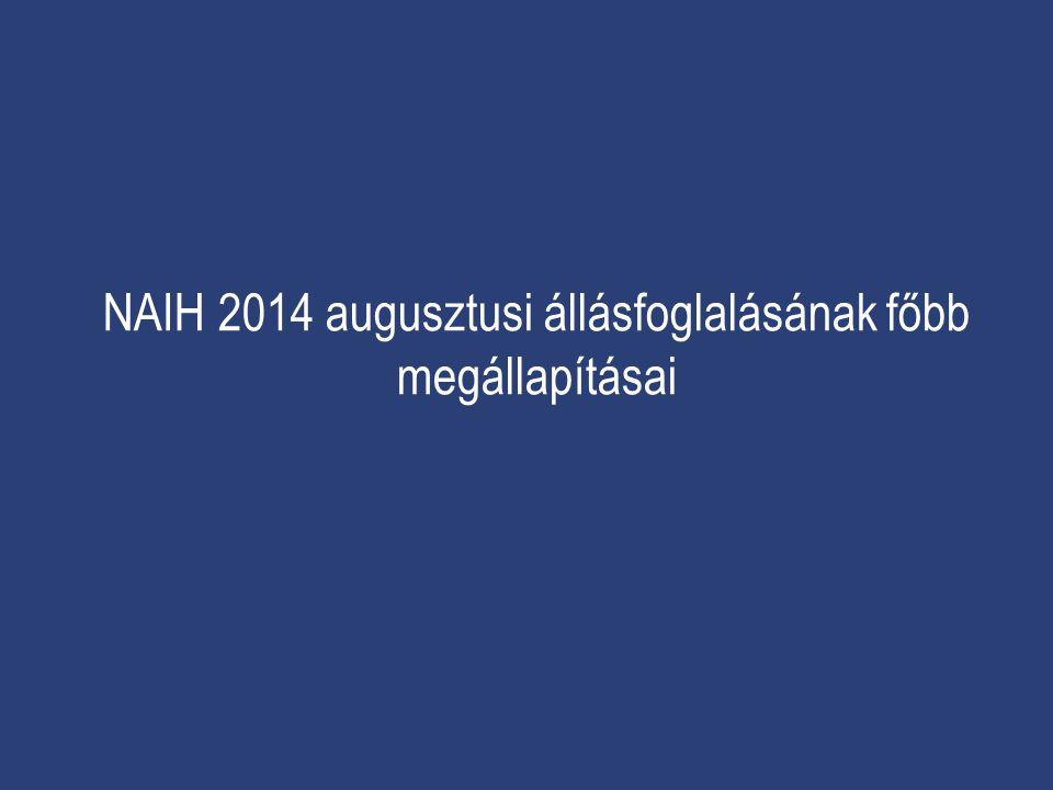 NAIH 2014 augusztusi állásfoglalásának főbb megállapításai