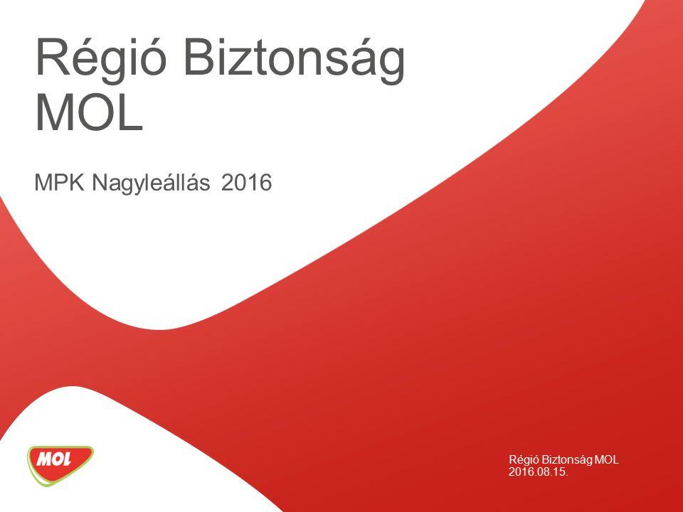MPK Nagyleállás 2016 Régió Biztonság MOL 2016.08.15. Régió Biztonság MOL