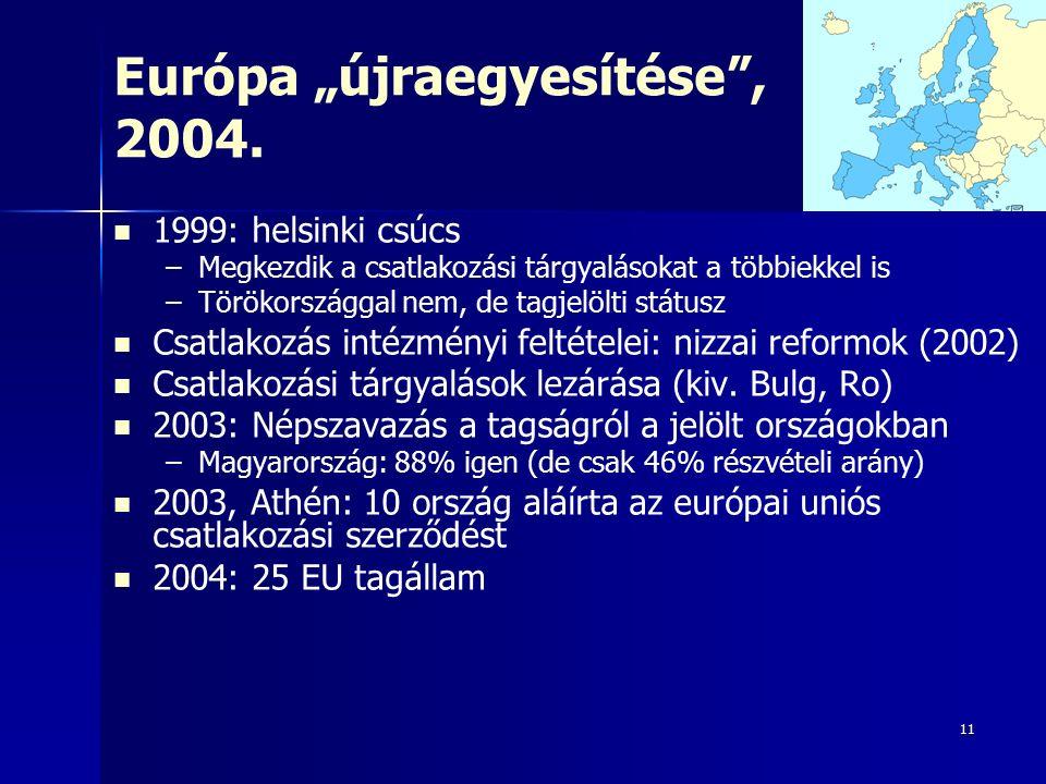 """11 Európa """"újraegyesítése , 2004."""