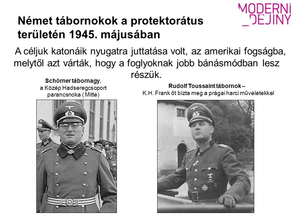 Német tábornokok a protektorátus területén 1945.