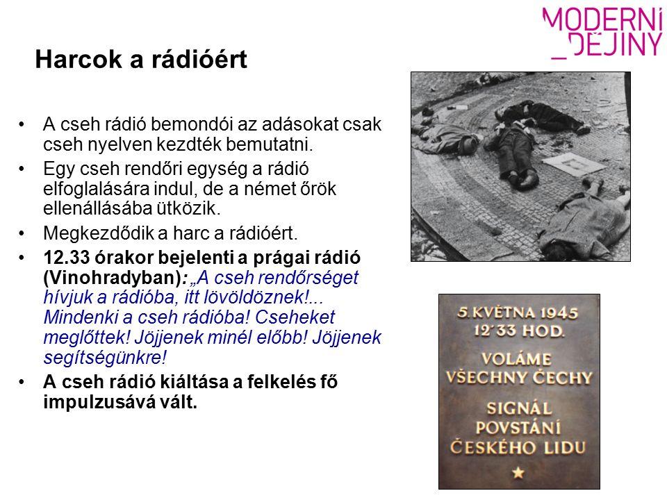 Harcok a rádióért A cseh rádió bemondói az adásokat csak cseh nyelven kezdték bemutatni.