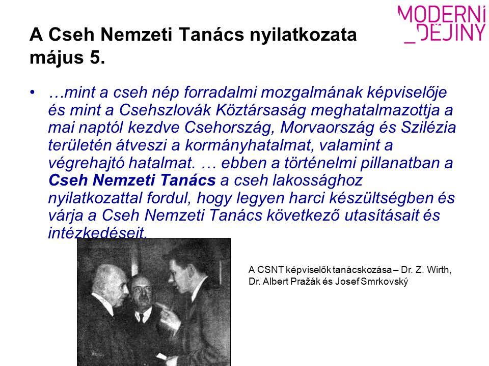 A Cseh Nemzeti Tanács nyilatkozata május 5.