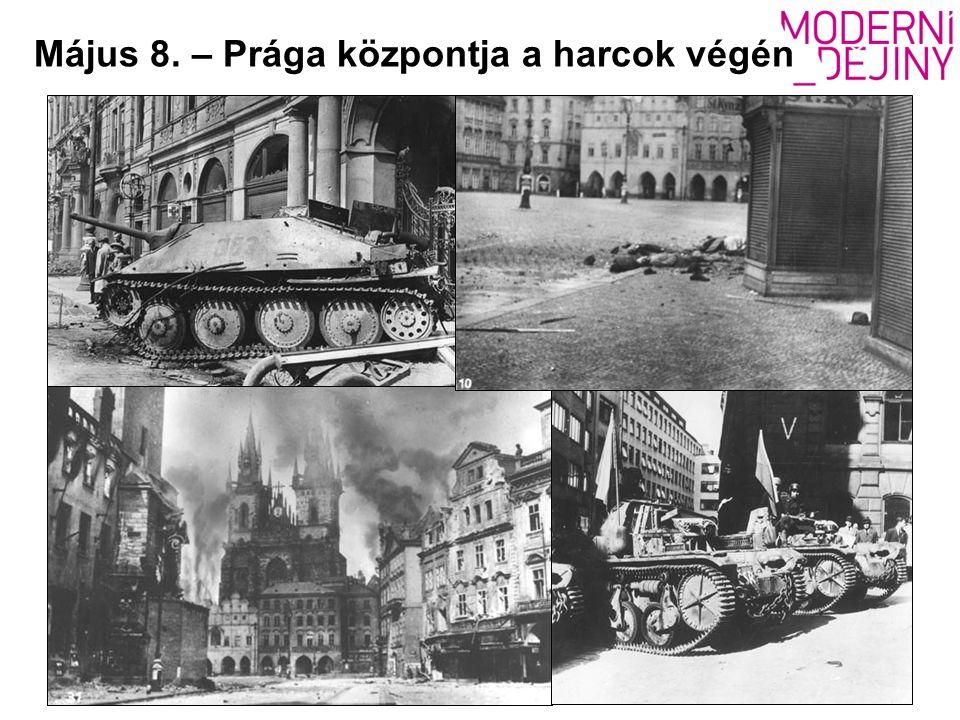Május 8. – Prága központja a harcok végén