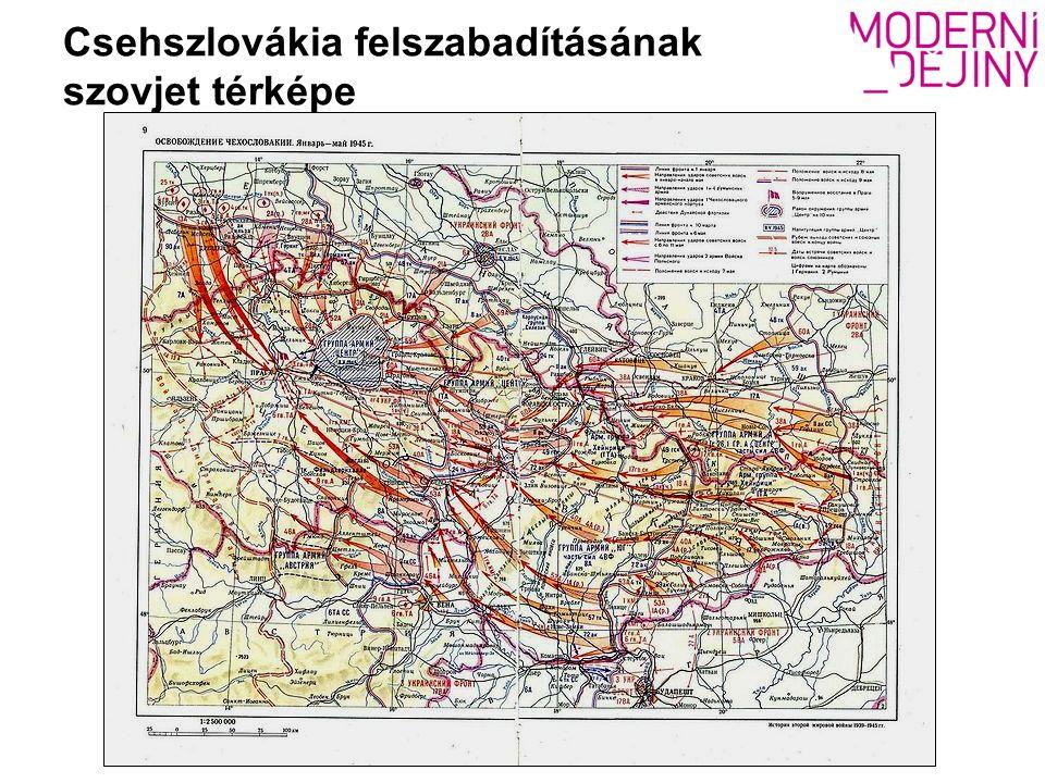 Csehszlovákia felszabadításának szovjet térképe