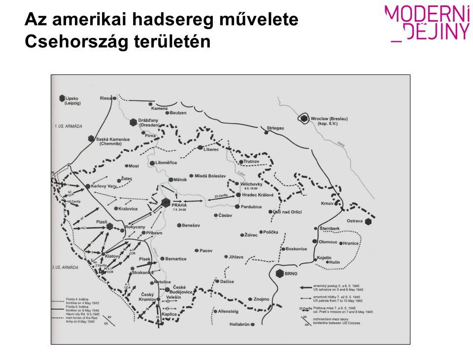 Az amerikai hadsereg művelete Csehország területén