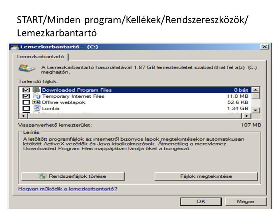 START/Minden program/Kellékek/Rendszereszközök/ Lemezkarbantartó