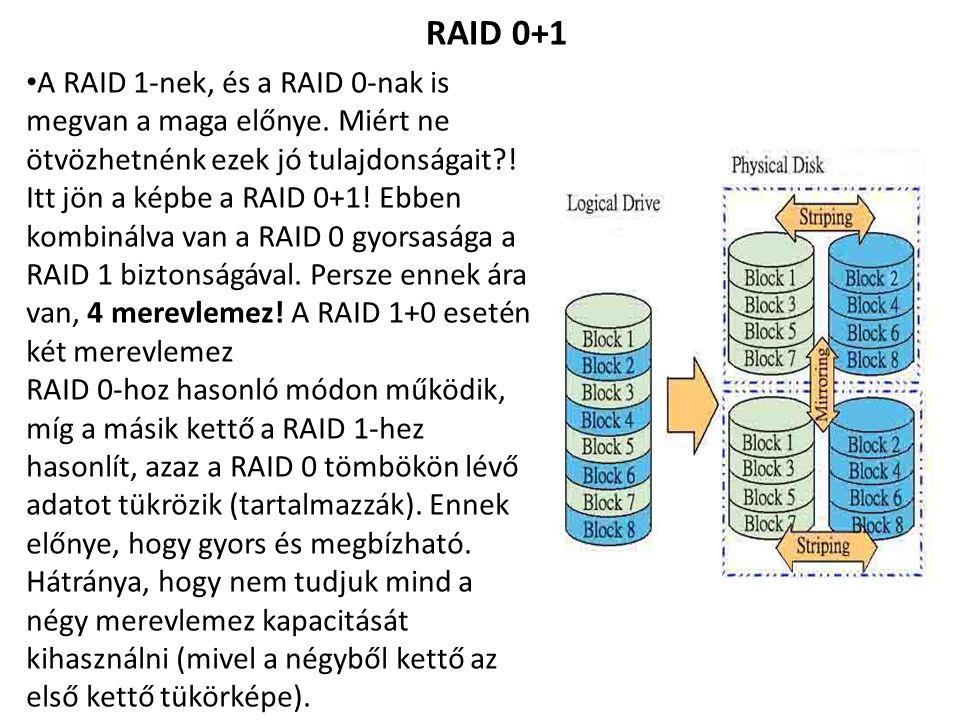 RAID 0+1 A RAID 1-nek, és a RAID 0-nak is megvan a maga előnye.