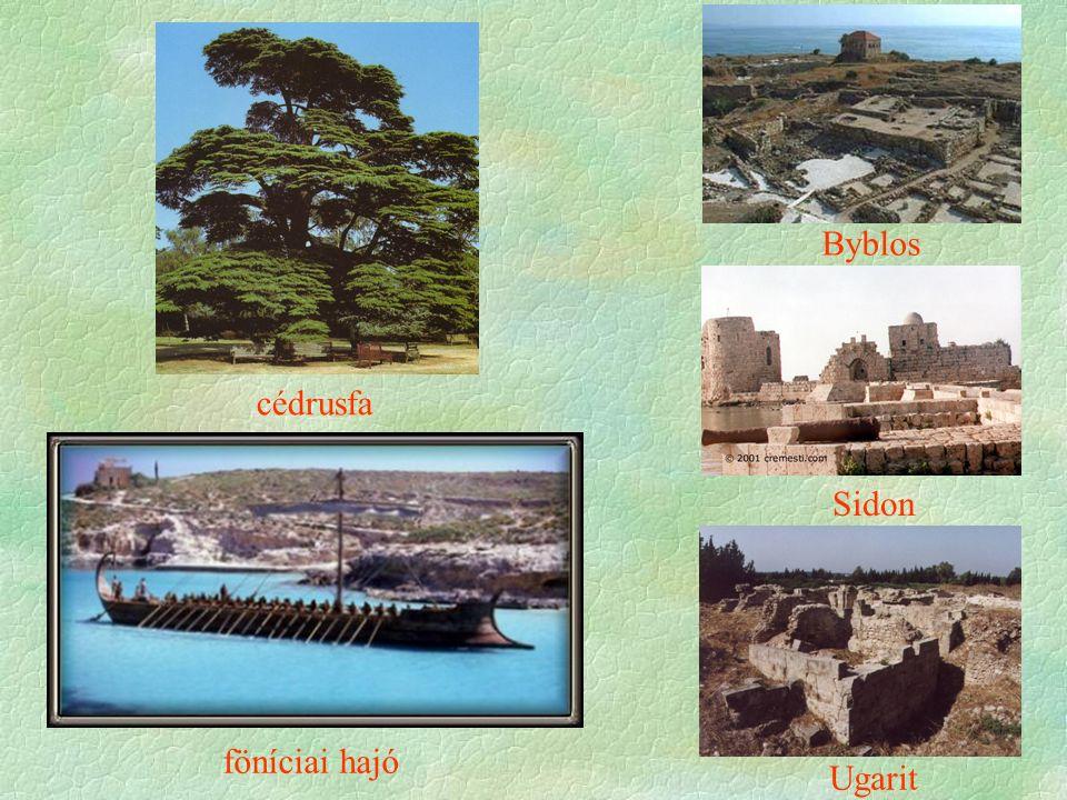 Byblos Sidon Ugarit cédrusfa föníciai hajó